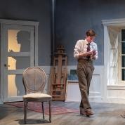 Photo by DavidAn unseen Gustav (Jonathan Rhys Willams) casts a wide shadow over Adolph (Joseph Patrick O'Malley). Allen for Aurora Theatre
