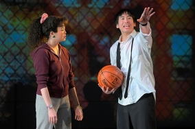 Not even Connie (Ruibo Qian) can deter the ambitions of her head-strong cousin, Manford (Tim Liu). Photo by Kevin Berne.