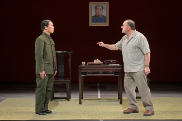 Wen Chang (BD Wong) isn't the same man Coach Saul (Arye Gross) met years ago. Photo by Kevin Berne.