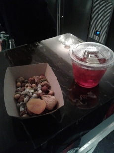 Persian trail mix and Forbidden Fruit cocktail. Photo by Me.