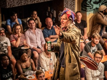 Boxer (Trevor Fox) tries to make the most of his lot in life. Photo By Marc Brenner