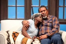 Abasiama (Nancy Moricette) is no longer haunted with Azell (Steven Anthony Jones) by her side. Photo courtesy of Magic Theatre.