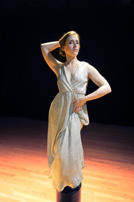 The show opens with the statuesque Helen (Adrian Deane). Photo courtesy of Theatre of Yugen.
