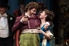 Jos's (Vincent Randazzo) affection for Becky (Rebeckah Brockman) will pay off in ways neither of them can foresee. Photo by Scott Suchman.