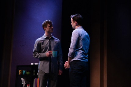 Jordan (Kyle Cameron) seems to pick up mixed signals from new co-worker Will (August Browning). Photo by Jessica Palopoli.
