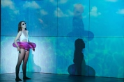 Evelyn (Danielle Altizio) gets the most out of her vacay by doing as little as possible. Photo by Nick Otto.