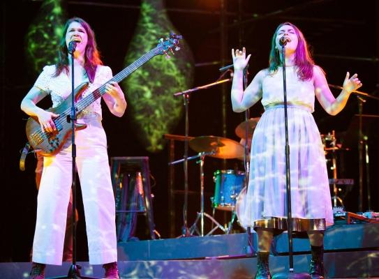 The sisters, Procne (Kate Kilbane) and Philomena (Lila Blue). Photo by Julie Schuchard