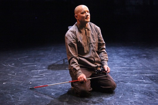 Tiresias (Sean San José) may be blind, but he still sees all. Photo by Jennifer Reily.