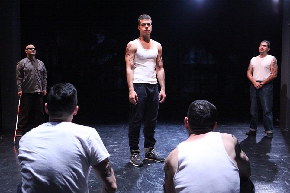 Oedipus (Esteban Carmona) in the prison he calls home. Photo by Jennifer Reily.