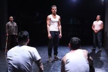 Oedipus (Esteban Carmona) in the prison he calls home. Photo by Jennifer Reily.