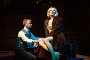 Clifford Bradshaw (Atticus Shaindlin) is immediately smitten with the incomprable Sally Bowles (Cate Hayman). Photo by Jessica Palopoli.