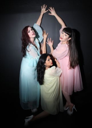 Red Velvet, Dee O's Mio, and Lady Malavendra in search of a way out. Photo by Ross Pearson