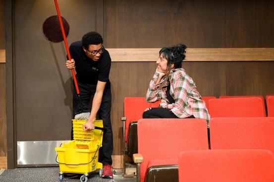 Rose (Ari Rampy, right) has her eye on Avery (Justin Howard, left). Photo by Ben Krantz Studio.