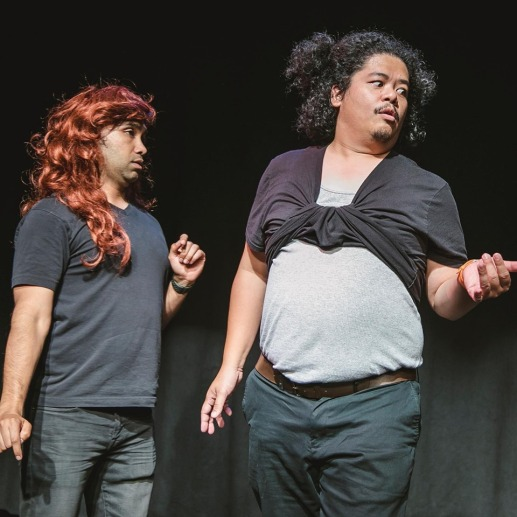 These club girls (Imran G and Tasi Alabastro) are totally into bad boys. Photo by Kayleigh Shawn McCollum.