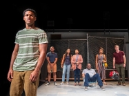 All the school's members (Tre'Vonne Bell, Ed Gonzalez Moreno, Gabriella Fanuele, Margo Hall, Michael J. Asberry, Sam Jackson, and Adam Niemann) can do is watch as beauracracy flexes its power. Photo by David Allen.