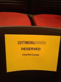 I always feel so fancy with my name on a chair. Photo by Me.