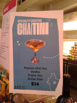 Specialty cocktail. Photo by Me.