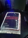 (Blurry) Post-show cake. Photo by Me.