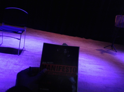 Pre-show set. Photo by Me.
